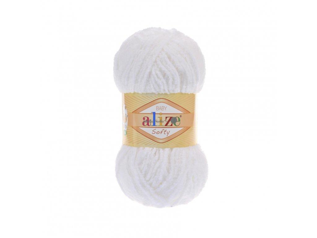 Softy 55 bílá