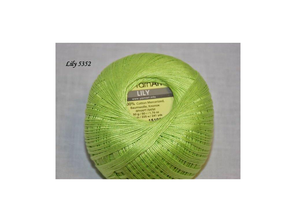 Příze Yarn Art Lily 5352 jarní zelená