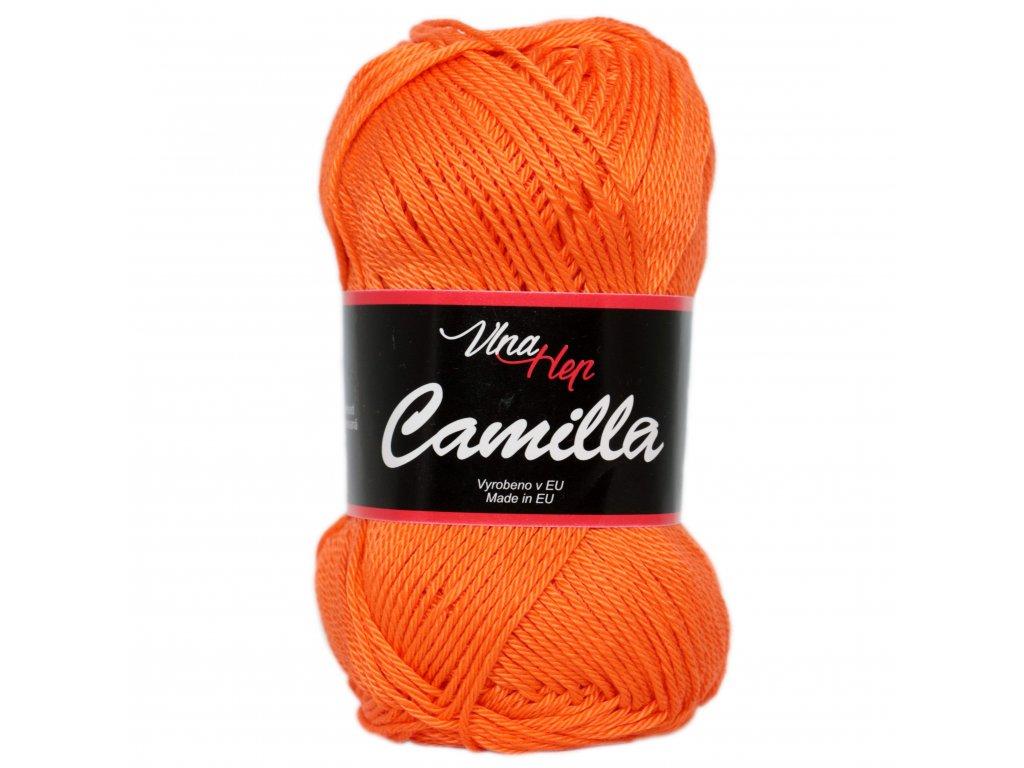 Příze Camilla 8301 zářivá oranžová