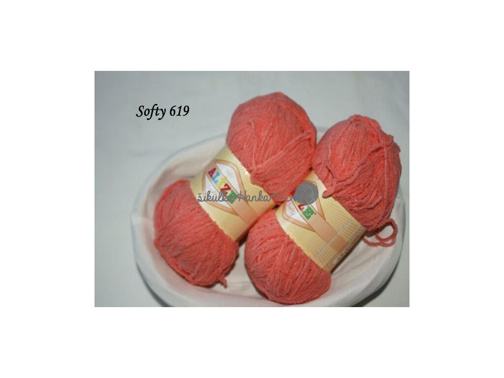 Softy 619 tmavší korálová