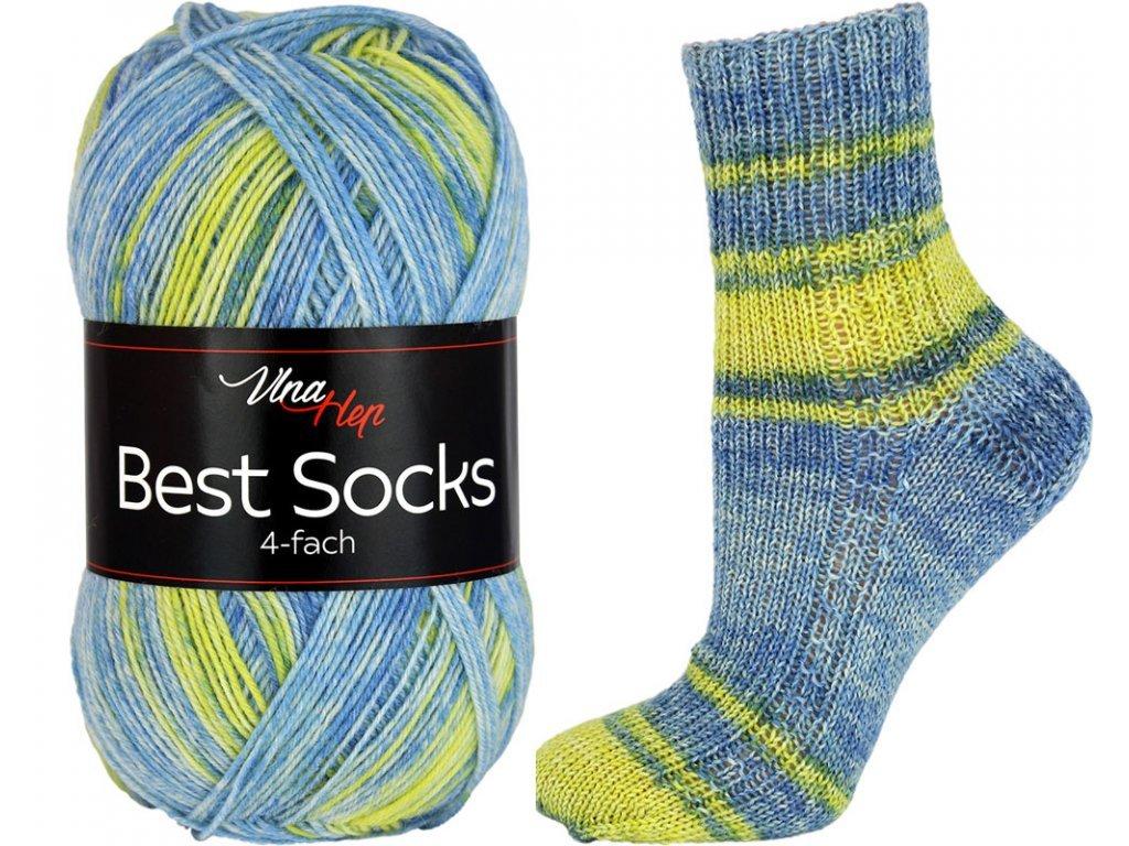 Příze Best socks 7322 modro-žlutá