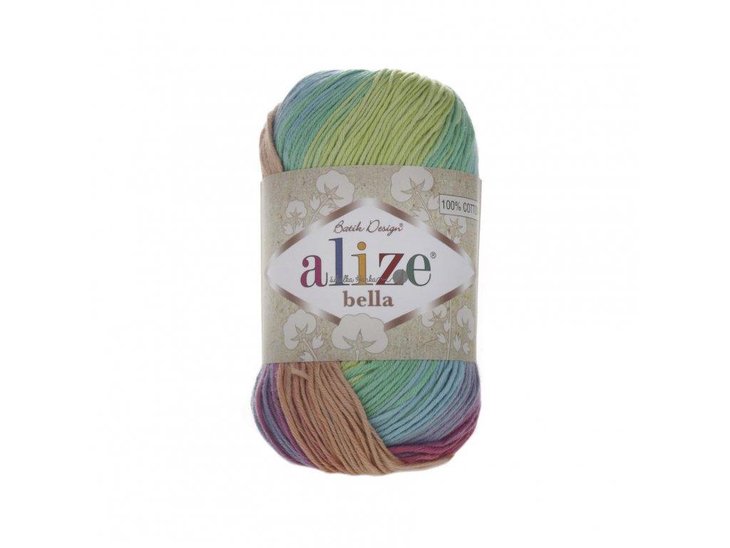 Příze Alize Bella batik 4151 barevná