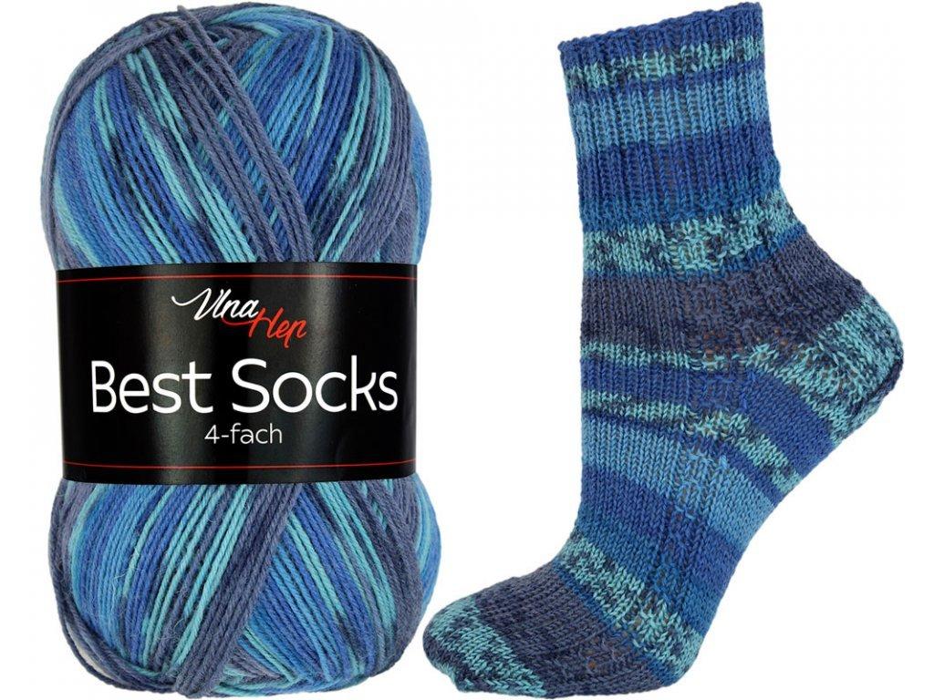 Příze Best socks 7312 tmavší modrá