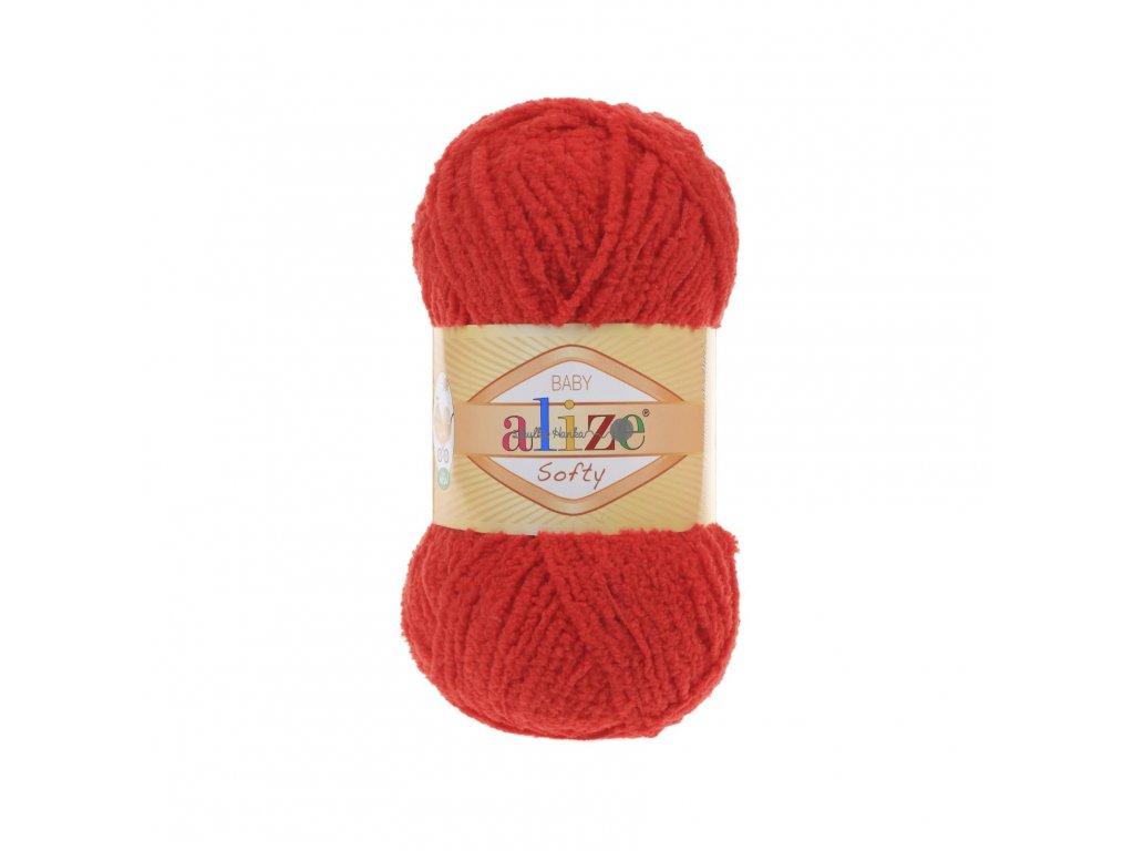 Softy 56 červená