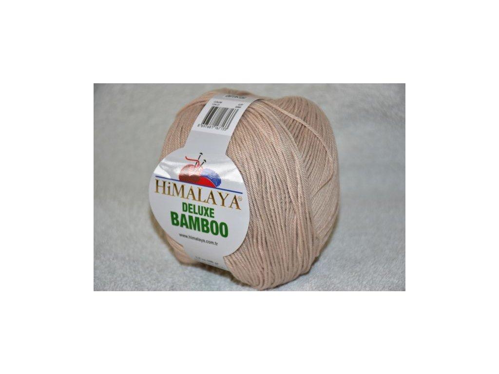 Příze De lux bamboo 21 sv.hnědá