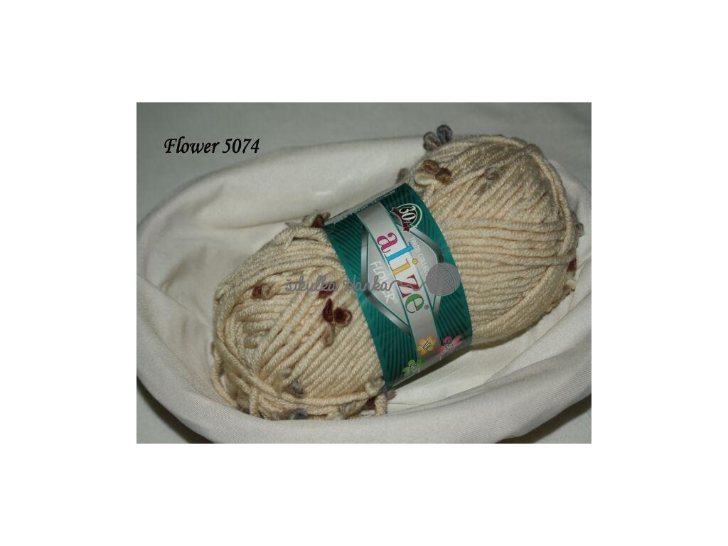 Příze Alize Flower 5074 béžová