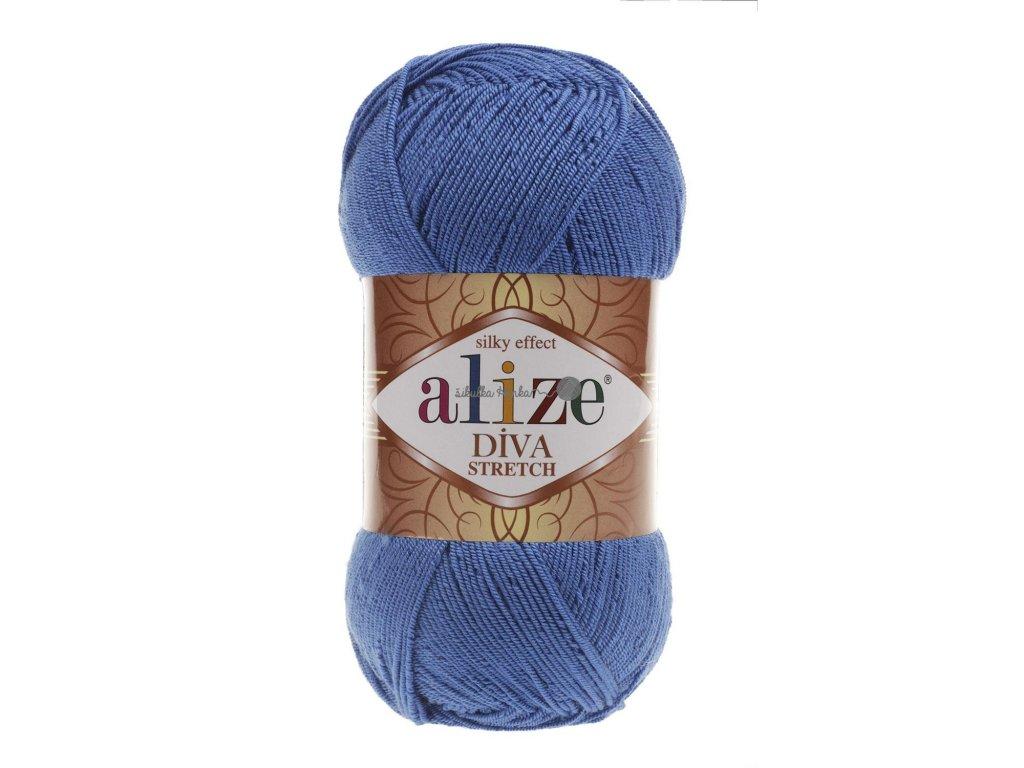 Alize Diva stretch 132 královská modrá