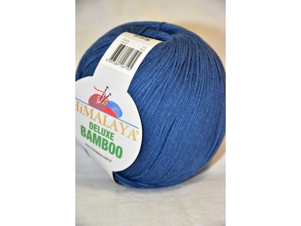 Příze De lux bamboo 27 půlnoční modrá