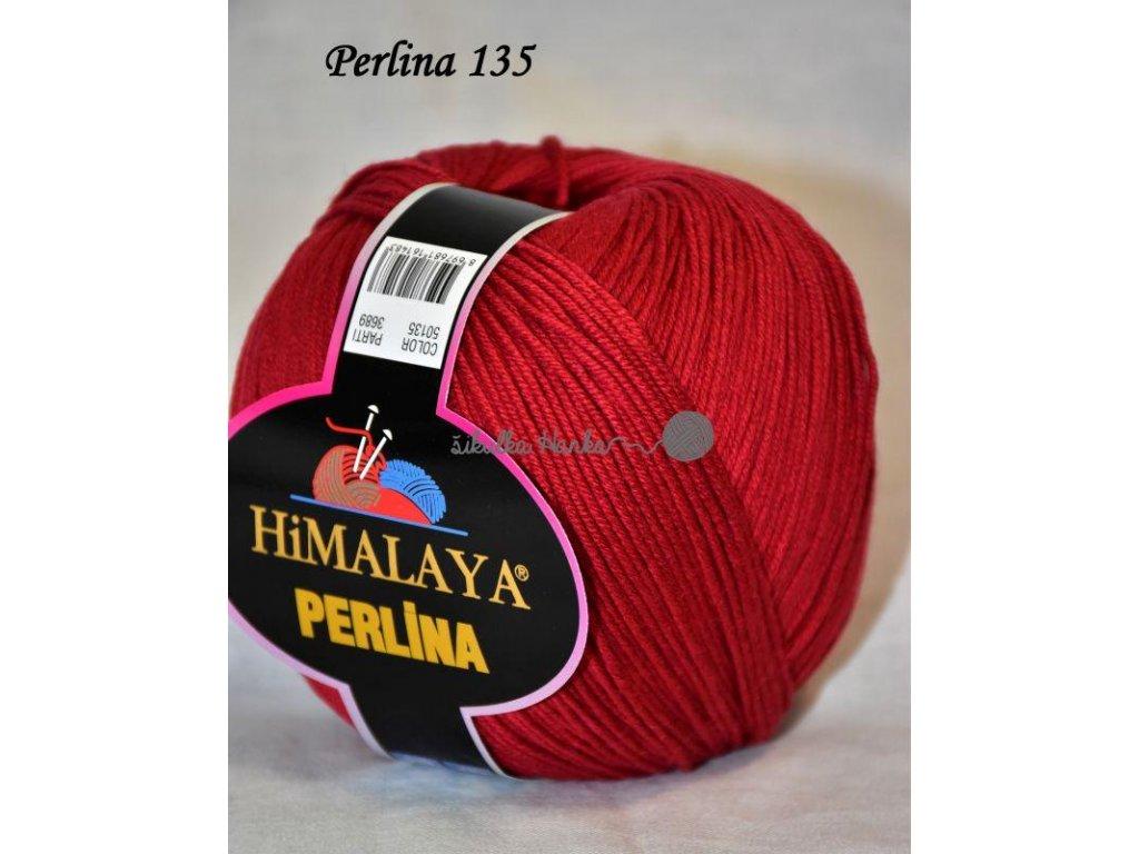 Příze Perlina 135 temně červená