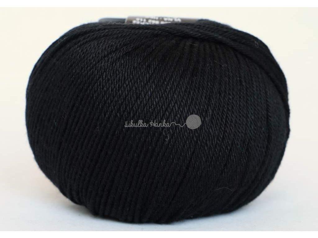 Příze Perla 8001 černá