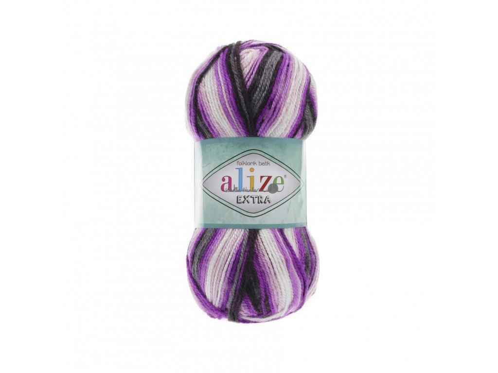 Alize Extra folklorik batik 4873 růžovo-bílo-šedá