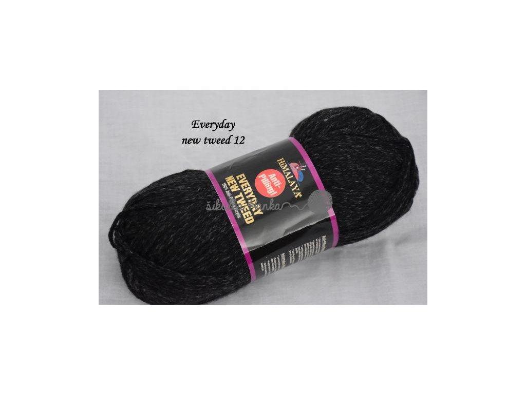 Everyday new tweed 12 černá melange