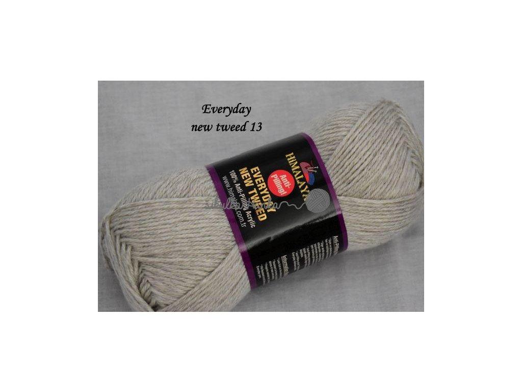 Everyday new tweed 13 světlá šedá