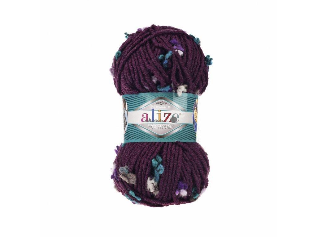 Příze Alize Flower 5083 fialová