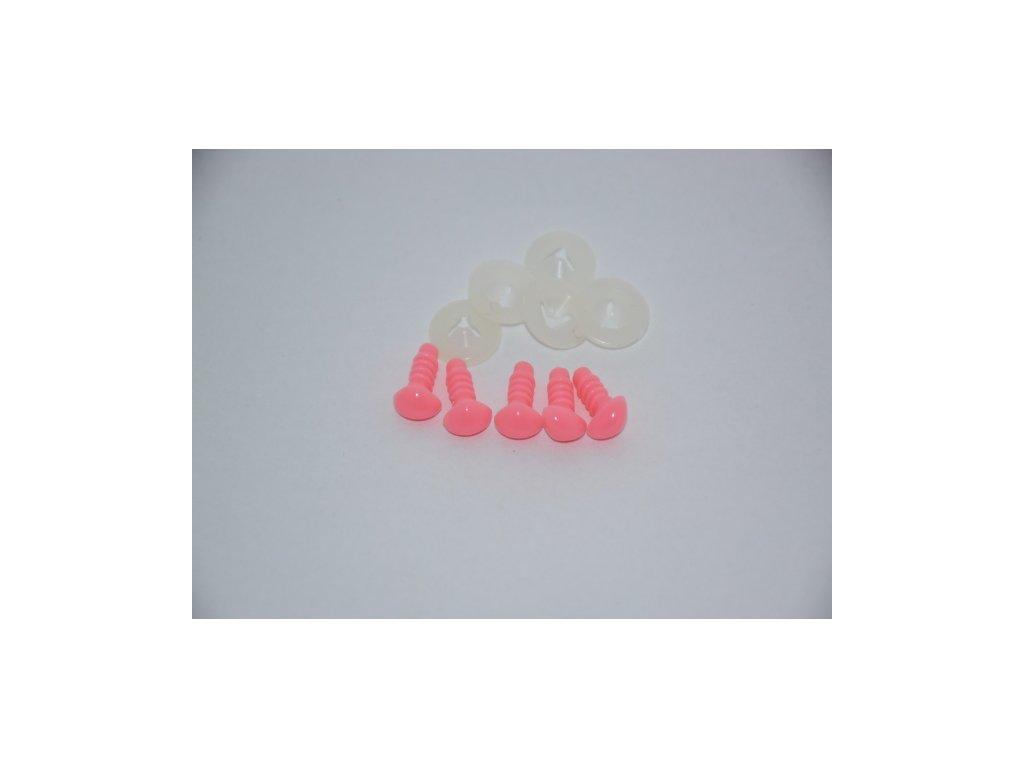 Bezpečnostní nos 8mm růžový