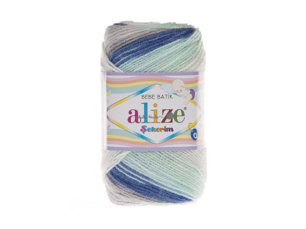 Sekerim bebe batik 6548 modro-bílo-šedá