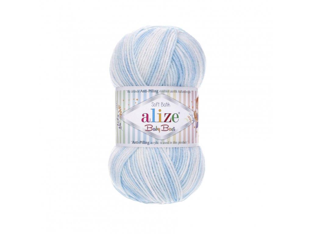 Příze Baby best batik 6669 modro-bílá