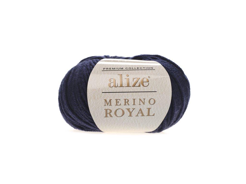 Merino royal 58 tm.modrá