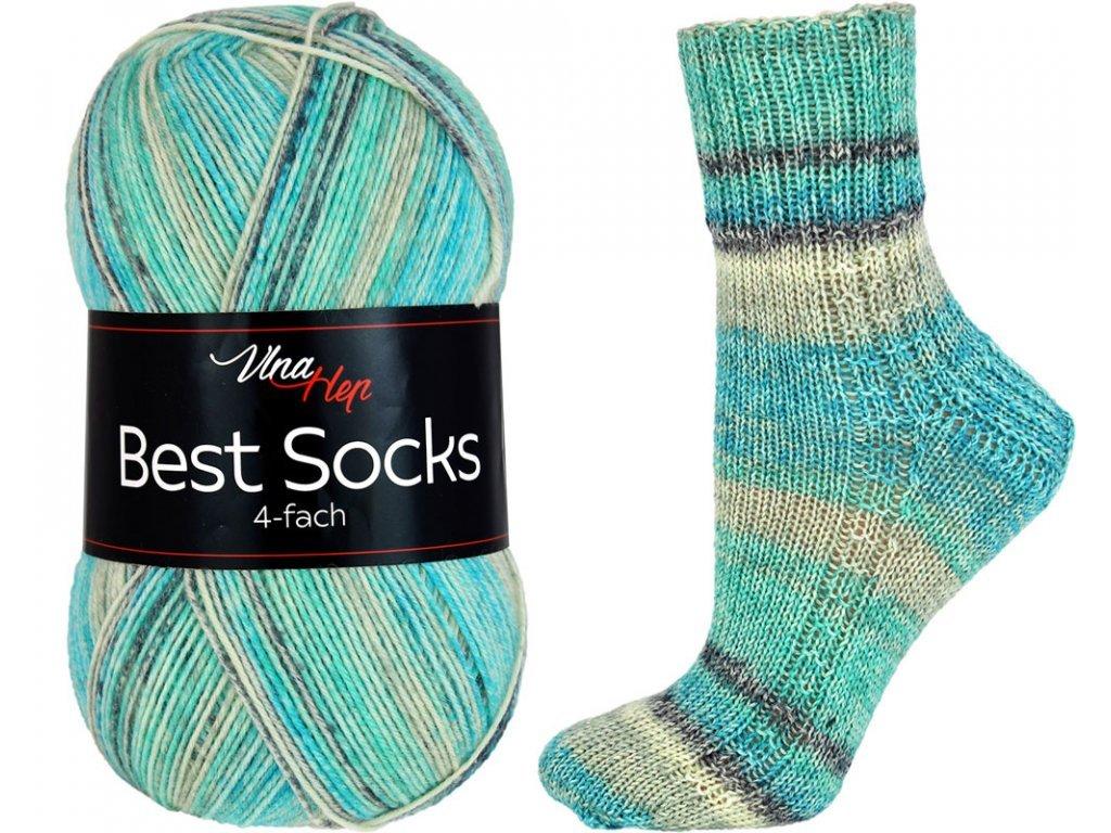 Příze Best socks 7321 tyrkysovo-světlá
