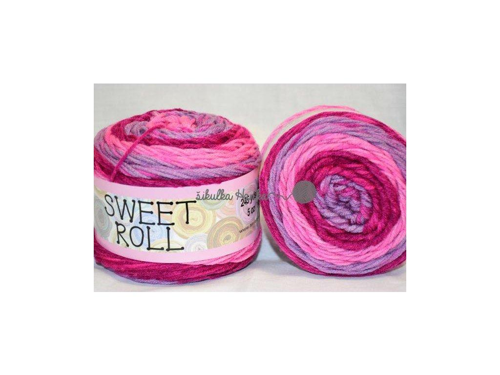 Sweet roll 05 růžovo-fialová