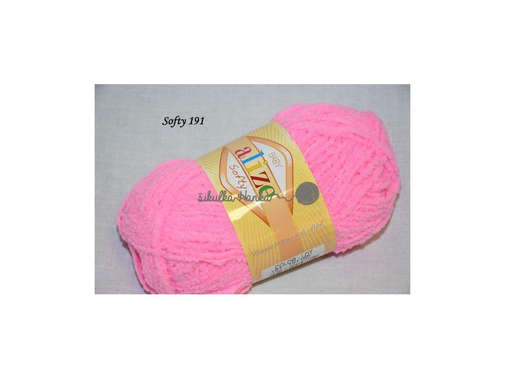 Softy 191 zářivá růžová
