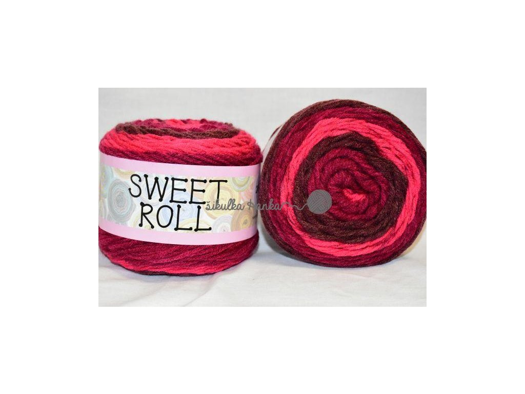 Sweet roll 04 tm.červeno-vínová