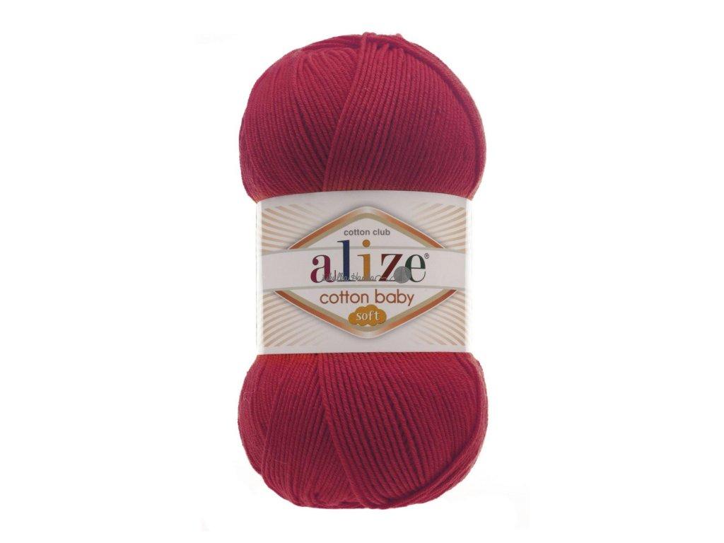 Cotton baby soft 56 červená