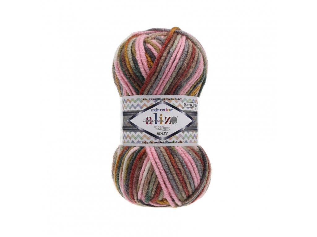 Superlana maxi multicolor 52146 sv.růžovo-hnědá