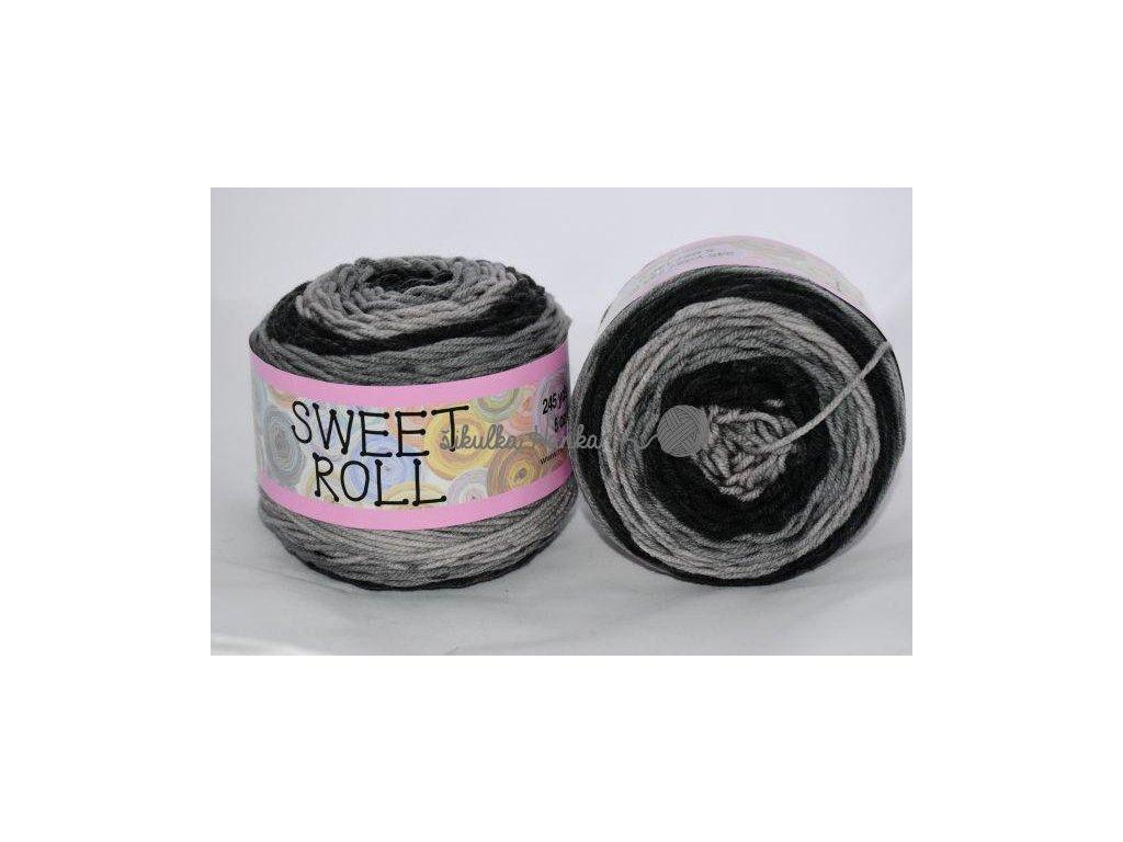 Sweet roll 10 černo-šedá