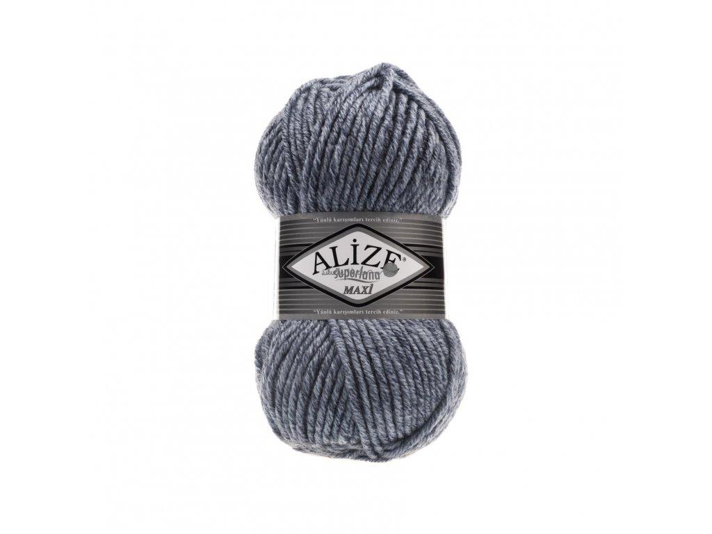 Superlana maxi 806 modro-šedá melange
