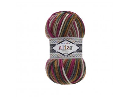 Superlana maxi multicolor 52144 tm.růžovo-barevná