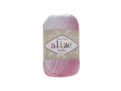 Příze Alize Bella batik 2126 růžovo-bílá