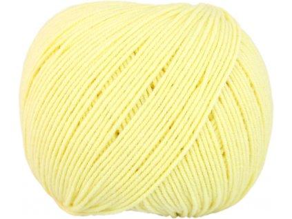 Jeans - Vlna Hep 8176 světlounká žlutá