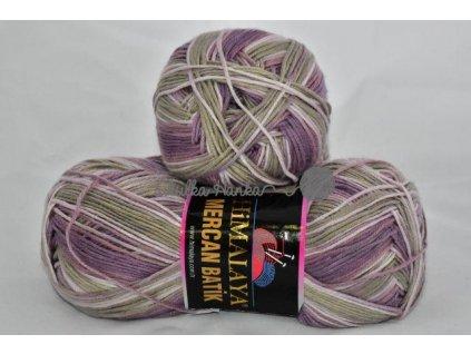 Mercan batik 59534 starofialovo-šedá