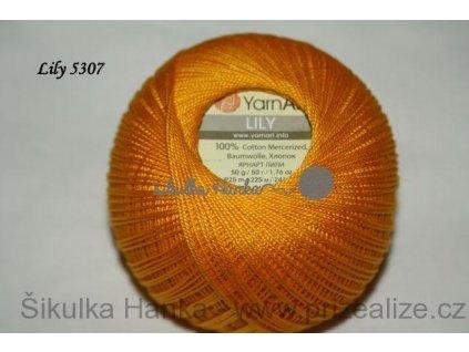 Příze Yarn Art Lily 5307 tmavší žlutá