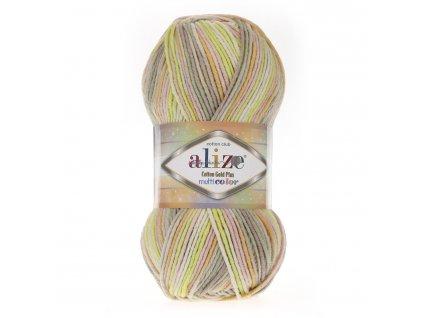 Cotton gold plus multicolor 52177 žlutá