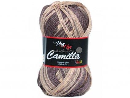 Příze Camilla batik 9615 hnědý melír