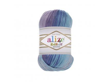 Příze Alize Bahar batik 3673 modro-fialová
