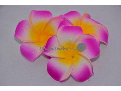 Dekorace hawai květ tm.růžová