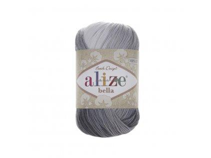 Příze Alize Bella batik 2905 černo-bílá