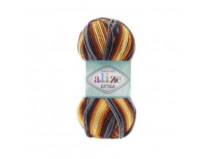 Alize Extra folklorik batik 4871 hnědo-žlutá