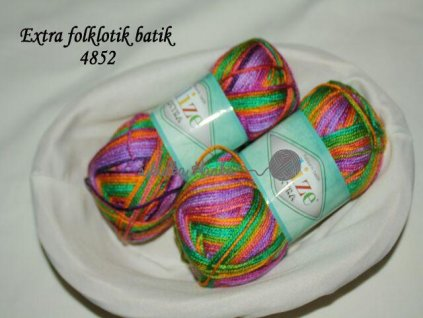 Příze Alize Extra folklorik batik 4852