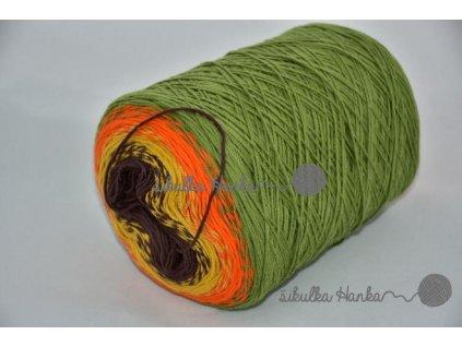 Candy 814 zeleno-oranžová
