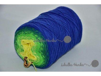 Candy 818 modro-zeleno-žlutá