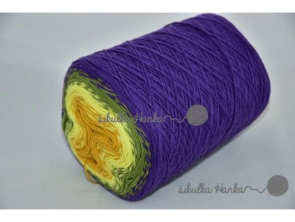 Candy 821 fialovo-žlutá