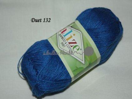 Příze Alize Duet 132 modrá š. 490