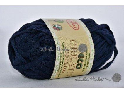 Eco creative cotton 20 tm.modrá