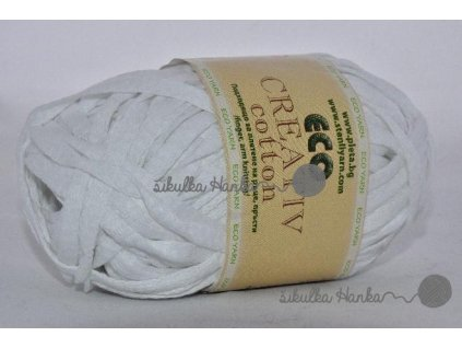Eco creative cotton 01 bílá