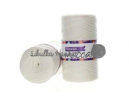 Ribbon s lurexem 01 bílá