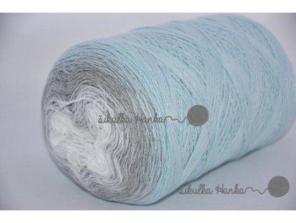 Příze Souffle 375 sv.modro-šedo-bílá